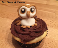 Cute Fondant Owl for Cupcake