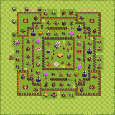 War Base Town Hall Level 11 By caponet1 (Defence1 TH 11 Layout)