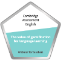 Digital badge on The value of gamification for language learning