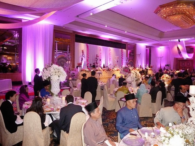 malay wedding purple theme