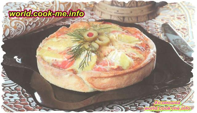 Рецепт картофельного пирога с семгой