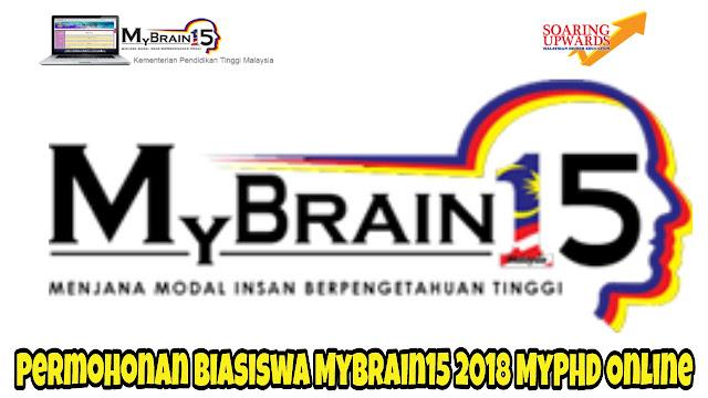 Permohonan Biasiswa MyBrain15 2018 MyPHD Online