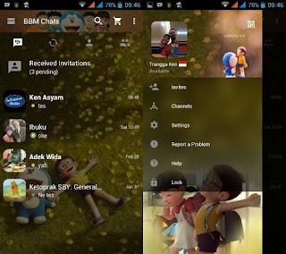BBM v.212011 Doraemon3D For Android Terbaru