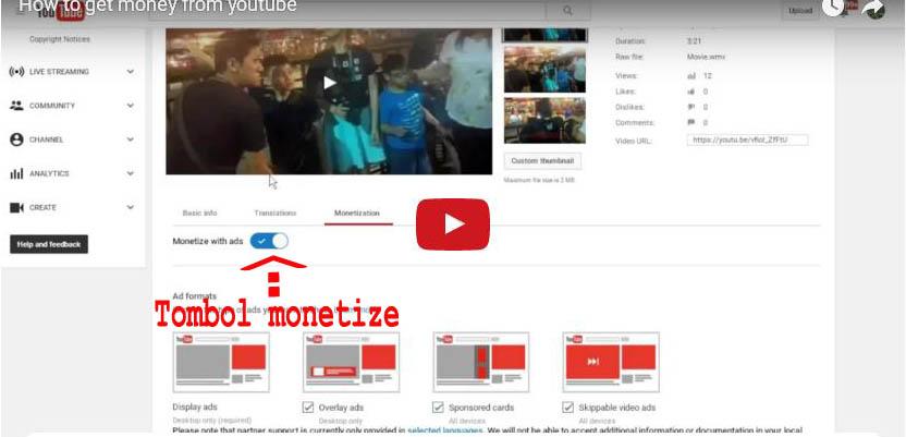 ingin punya penghasilan dari youtube begini caranya wong cipendok