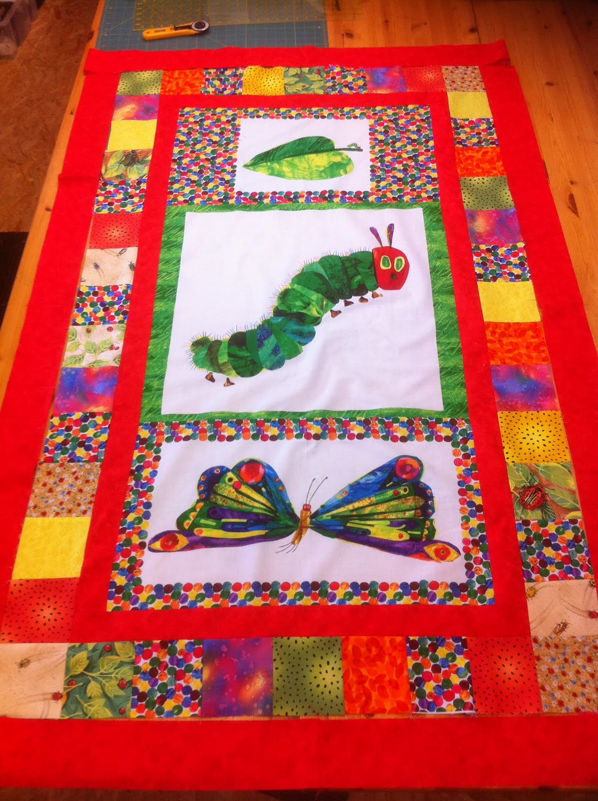 Quilters Cottage Norfolk Hungry Caterpillar Quilt