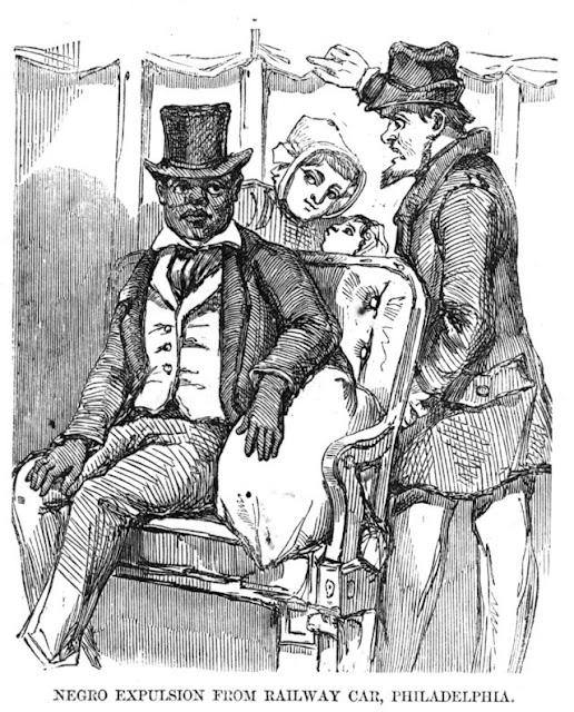 Negro expulsion from a railway car in Philadelphia