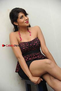 Kannada Actress Iti Acharya Stills in Strapless Dress at Dhwani Movie Press Meet  0008.jpg