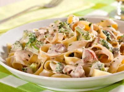 receitas recetas recipes macarrão frango brócolis