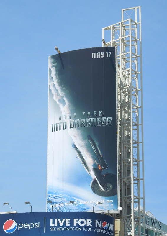 Star Trek Into Darkness movie billboard