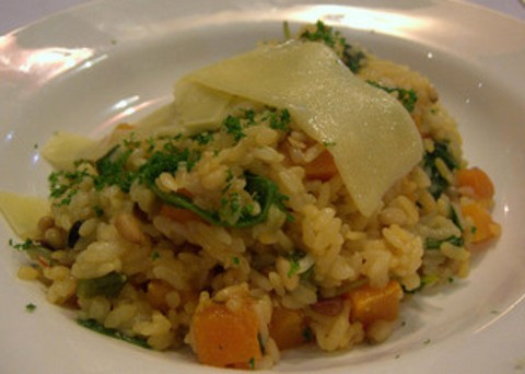 Fulfilling bowl of pumpkin risotto