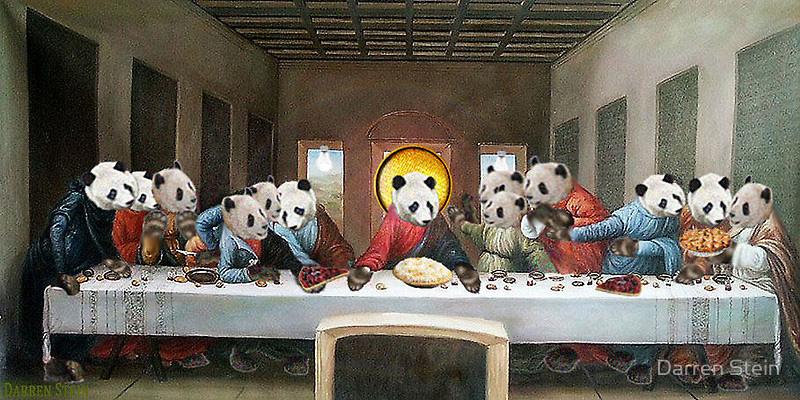 The Last Supper (Pandas) by Darren Stein