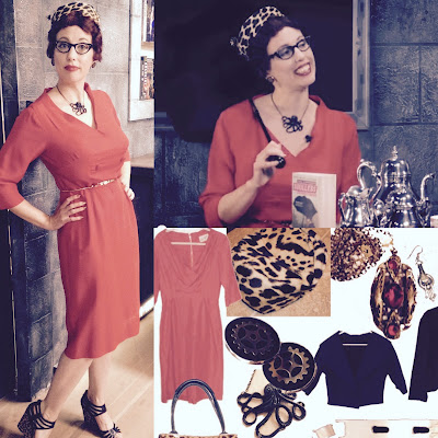 Gail Carriger in 1950s Retro Red Pedal Pushers and Leopard