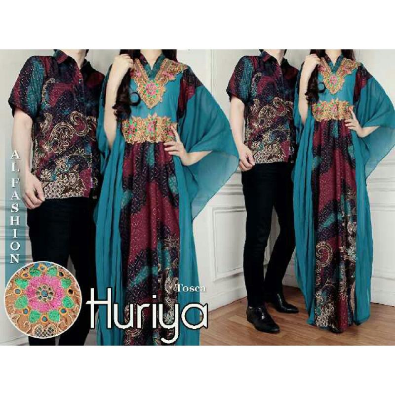 Jual Batik Gamis Couple Huriya Tosca - 24225