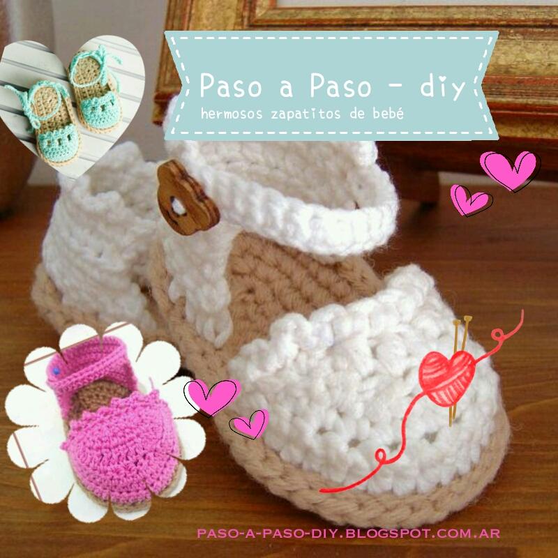 Zapatitos de bebé al crochet diy | Paso a Paso