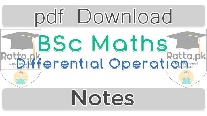 BSc Maths Differential Operations Notes pdf - Vector Analysis