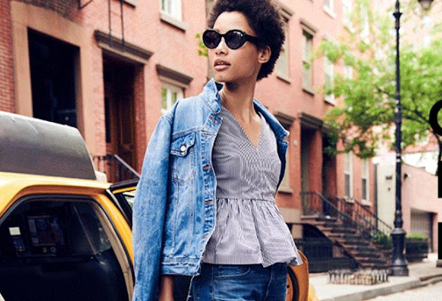 Shopping, Style and Us: India's Best Shopping and Self-Help Blog- This peplum top in stretch cotton poplin is the most versatile top according to J. Crew. Buy it now!