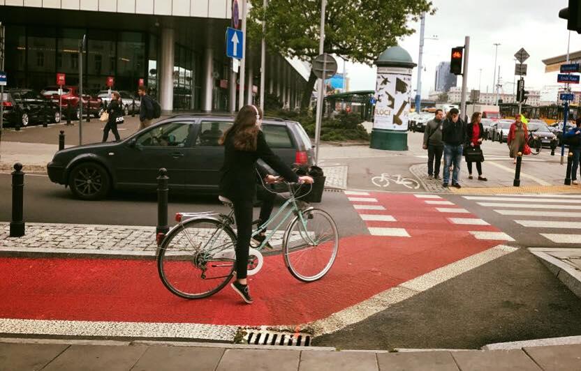 波蘭市區單車道
