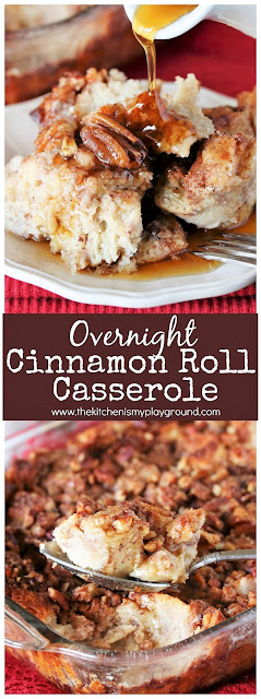 Easy Overnight Cinnamon Roll Casserole image