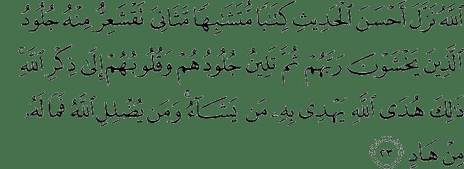 Surat Az-Zumar ayat 23