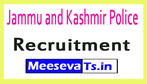 Jammu and Kashmir JK Police Recruitment