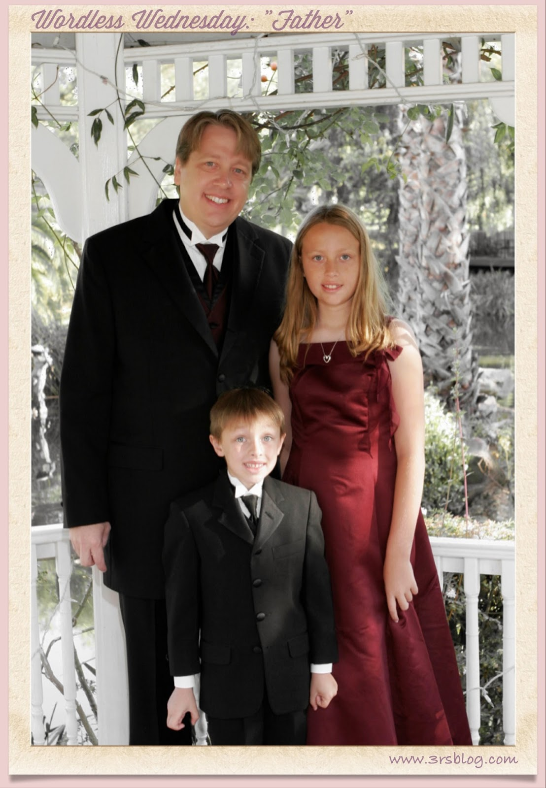 "Wordless Wednesday 6-10-2014 ""Father"" family wedding photo"