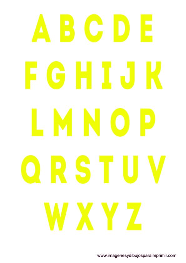 Dorable Letras De Color Imprimibles Elaboración - Dibujos Para ...