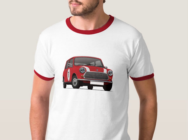 Red Austin Mini - Morris Mini - T-shirt