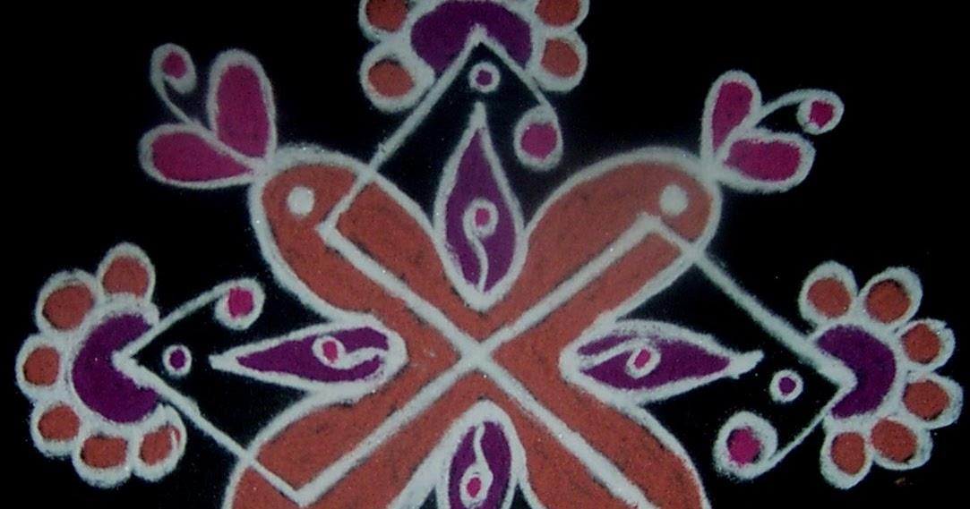 Vanathi s rangoli art crafts simple rangoli 2 for beginners