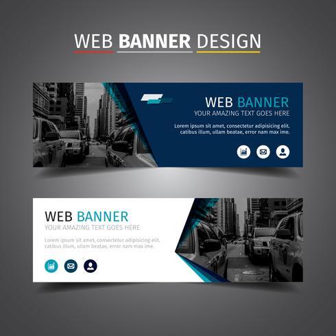 Blue Elegant Business Banner free vector