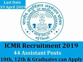 ICMR Recruitment 2019