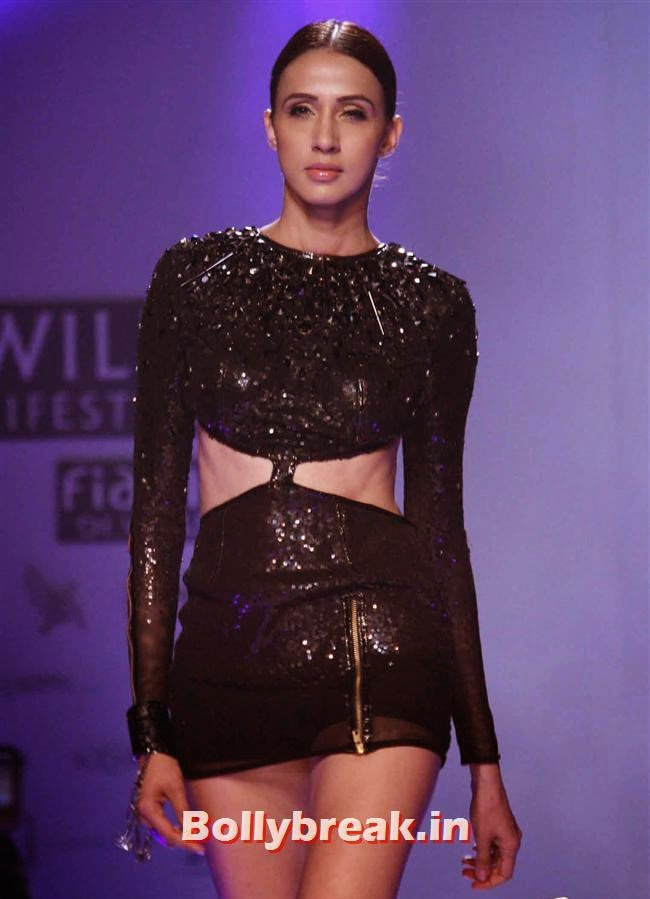 Alesia Raut, Shilpa Shetty walks at Wills India Fashion Week 2014
