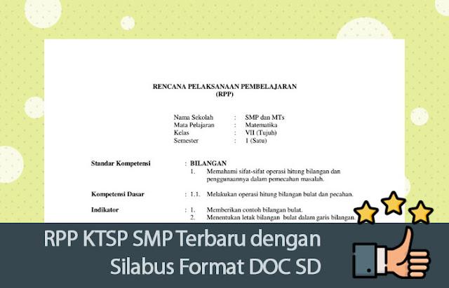 RPP KTSP SMP Terbaru dengan Silabus Format DOC