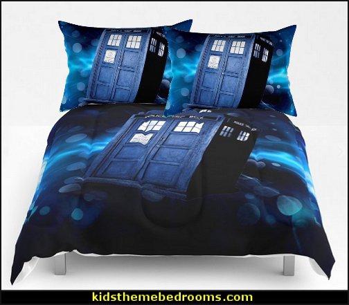 tardis dr who Rectangular Pillow  tardis dr who Comforters  Doctor Who bedroom - Doctor Who themed bedroom ideas - decorating Doctor Who theme -  Doctor Who decor - Doctor Who Bedding - dr who bedroom ideas - Dr Who Tardis - doctor who