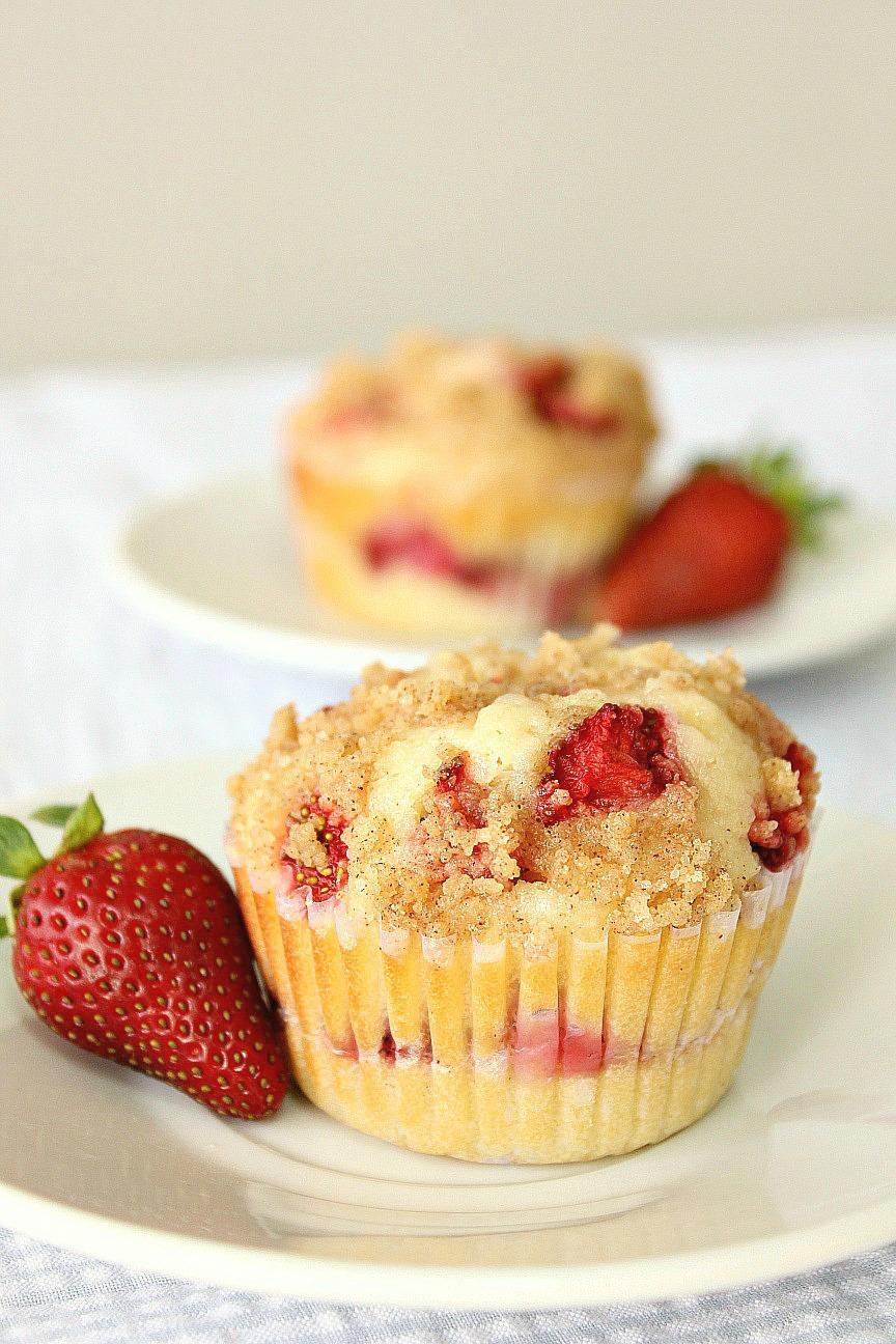 Strawberry Cream Cheese Coffee Cake Muffins