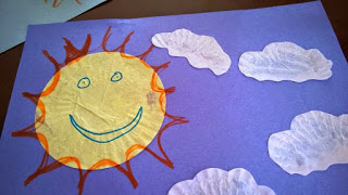 Cupcake Liner Sun Preschool Craft. Easy Sun Craft. Easy Kids Crafts.