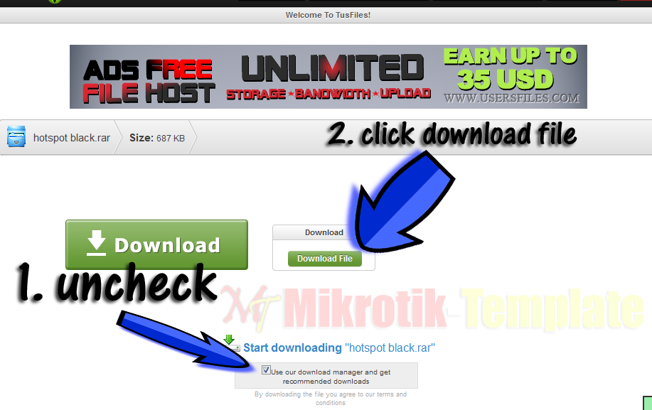 Mikrotik Template | Free Download Login Page Hotspot