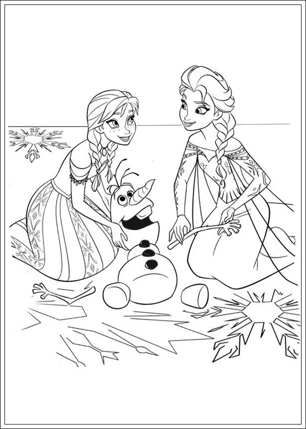Ausmalbilder zum Ausdrucken Malvorlagen Disney Die Eiskönigin