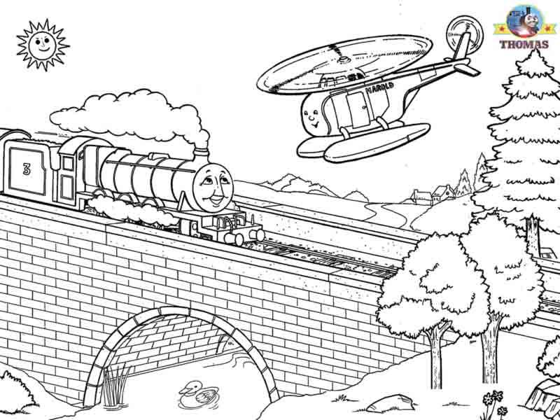Thomas The Tank Engine Coloring Pages Printable, Thomas