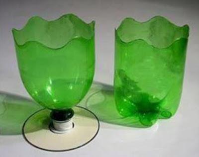 pot bunga dari botol aqua bekas