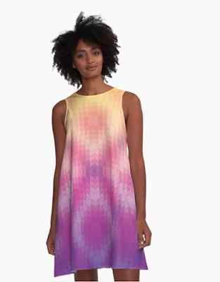 Sunset Geometric Pattern Dress