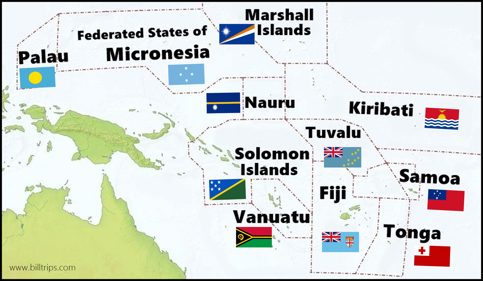 Bills Excellent Adventures Island Hopping In Micronesia - Us And Pacific Countries Maps