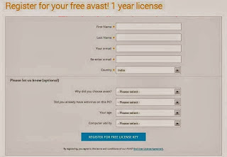 Avast Antivirus Registration Pages