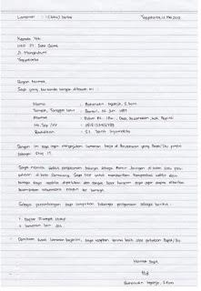 Contoh Surat Lamaran Tulisan Tangan Kumpulan Contoh Gambar