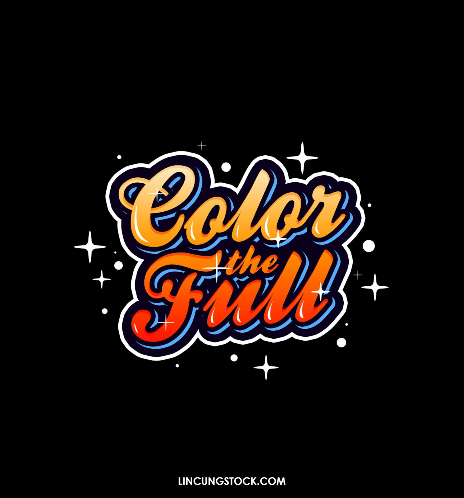 Free Download Colorful Typography Text Effect Template - PSD File