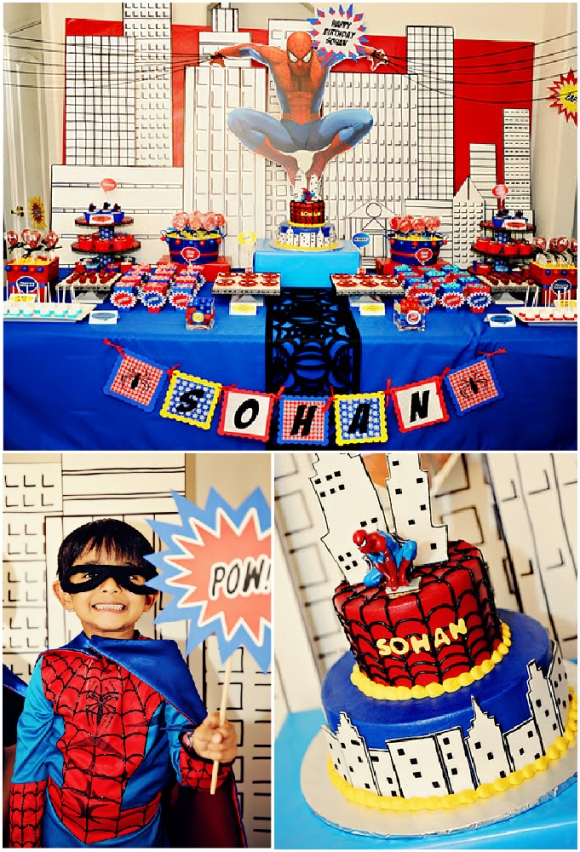 Boys Party Ideas A Spiderman Inspired Super Hero Birthday Party Ideas Party Printables Blog