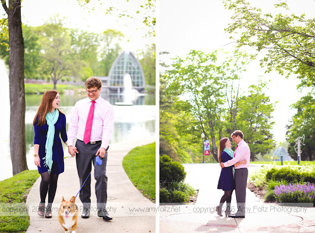 engagement photos at Rose Hulman
