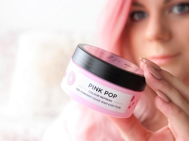 maria nila růžová maska pink pop