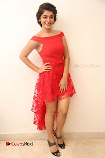 Actress Yamini Bhaskar Latest Pictures in Red Dress at 100 Days of Love Movie Audio Launch  0162