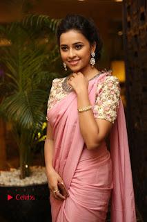 Actress Sri Divya Stills in Saree at Rayudu Movie Audio Launch  0074