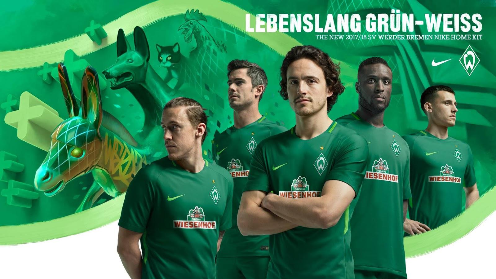 Werder Bremen 17-18 Home, Away & Third Kits Released - Footy Headlines